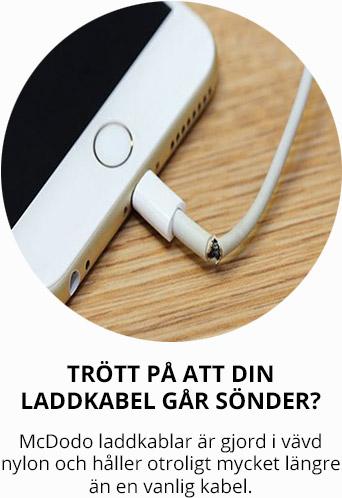 1.8m Vinklad Laddare till iPhone Fast Charge, Flätad Svart