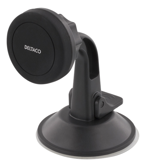 Deltaco Magnetisk mobilhållare för bilen, sugkopp, rotation