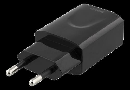Deltaco Väggladdare, 100-240V, USB, 5V, 2,4A, 12W, svart