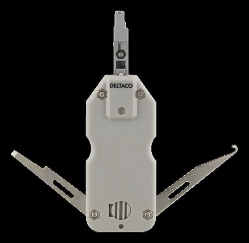 Deltaco Kompakt slitsverktyg för nätverkskabel, Krone LSA, vit