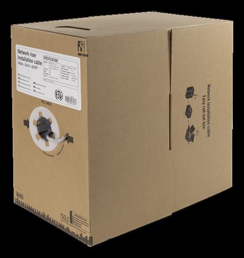 Deltaco U/UTP Cat6 riser installationskabel, 305m box, 250MHz