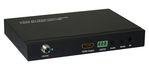 Datorstyrd HDMI-Switch, 4-portar, fjärrkontroll, 1080p