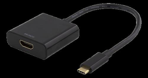 Deltaco USB-C till HDMI adapter, 4096x2160, 30Hz