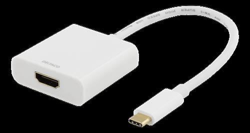 Deltaco USB-C till HDMI adapter, 4096x2160 30Hz