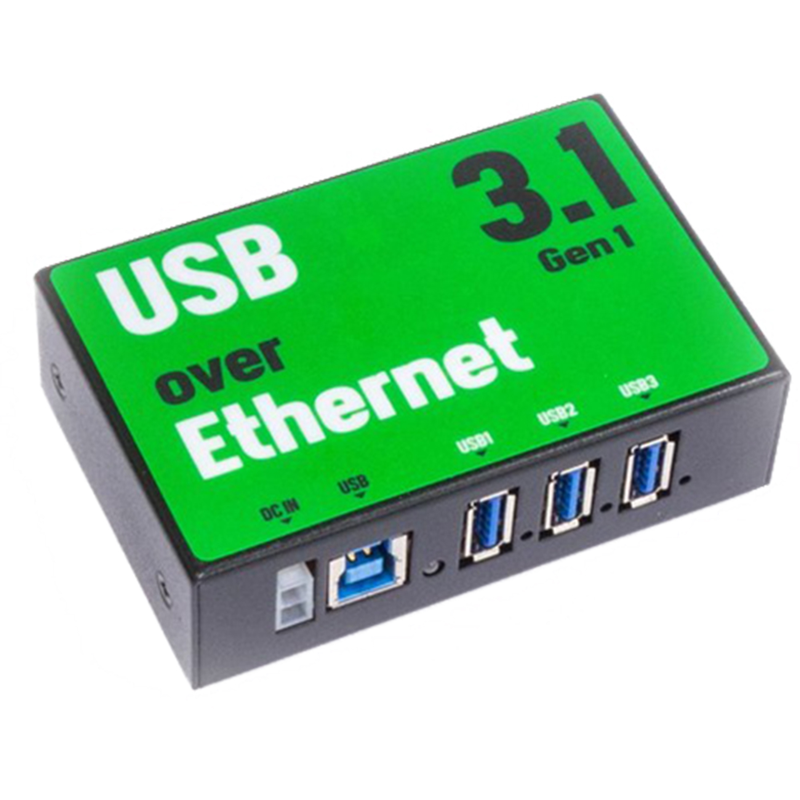 3-Port USB via Ethernet Hub, USB 3.1 Gen 1, 900mA