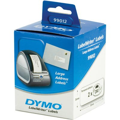 Dymo LabelWriter vita adressetiketter, 89x36 mm, 24x260 st