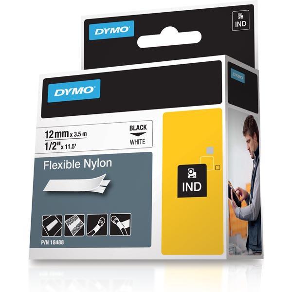 Dymo Rhino Professional vit märktejp i nylon, 12 mm, 3.5 m