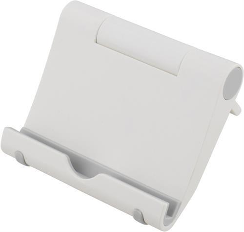 Deltaco stativ för surfplattor och smartphones, vit