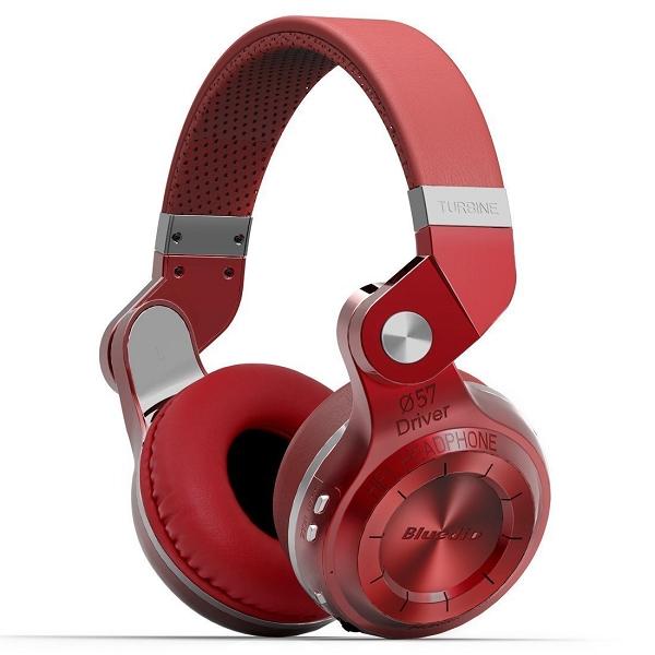 Bluedio T2+ bluetooth v4.1 headset, röd