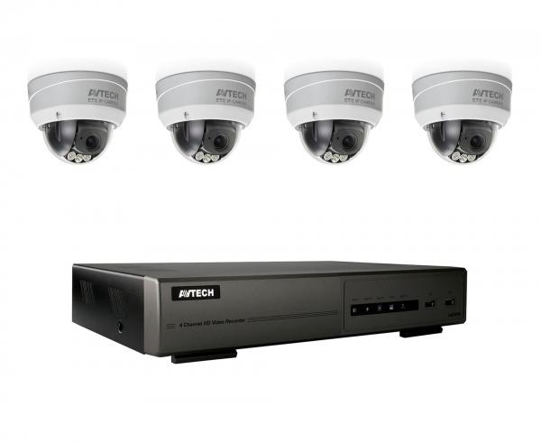 Övervakningspaket utomhus 4 kameror, Full HD, 1TB