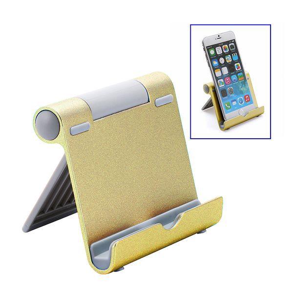 Justerbart ställ för smartphones/surfplattor, guld