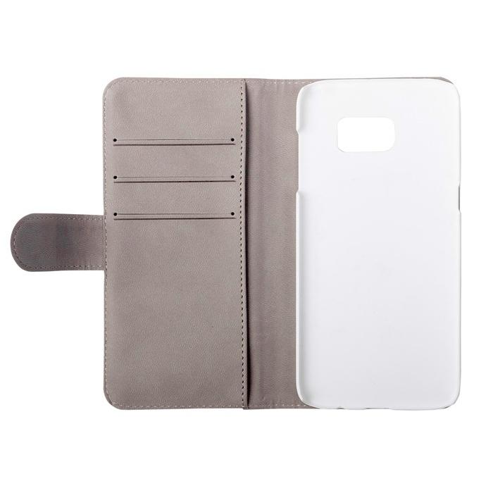 Gear plånboksfodral vit, Samsung Galaxy S7 Edge