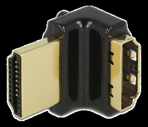 DeLOCK HDMI-adapter, 19-pin ho-ha, vinklad 90° uppåt, svart