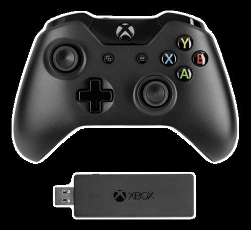 Xbox One trådlös handkontroll, inkl adapter för Win10, svart