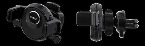 Deltaco bilhållare för ventilationsgaller, svart