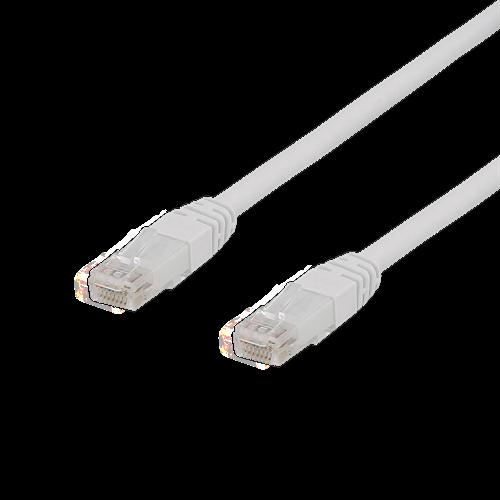 Deltaco nätverkskabel CAT6a, LSZH (halogenfri), vit, 7m