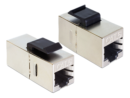 DeLOCK Keystonemodul RJ45 hona - RJ45 hona, Cat6, skärmad silver