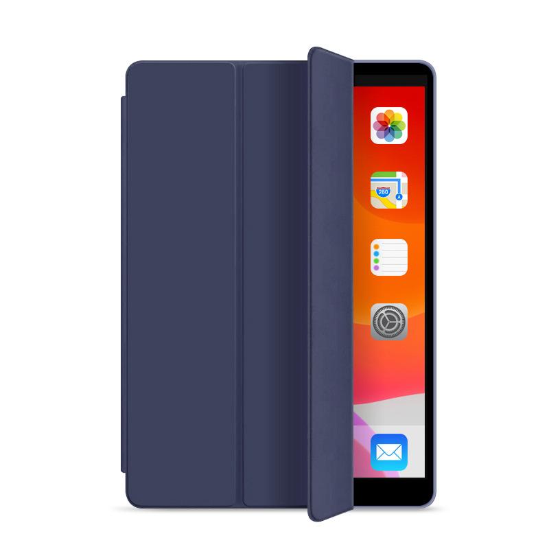 Läderfodral med ställ till iPad Pro 12.9 (2020), mörkblå