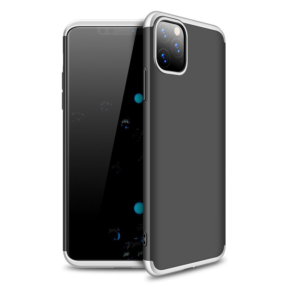 3-delat skal till iPhone 11 Pro Max, silver/svart