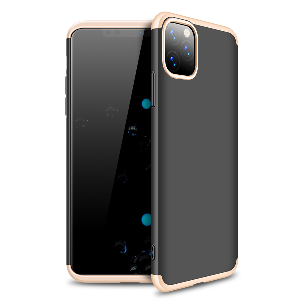 3-delat skal till iPhone 11, guld/svart