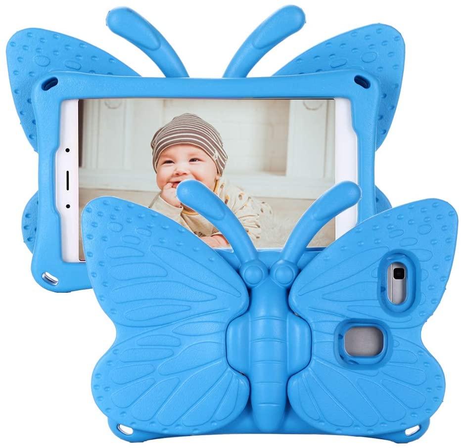 Fjärilsformat barnfodral, Samsung Tab A 8.0, blå