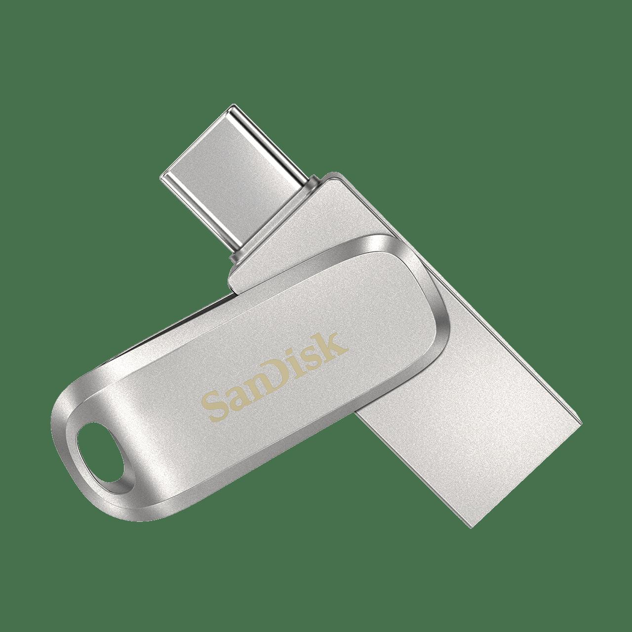 512GB SanDisk Ultra Dual Drive Luxe USB-minne, USB-C+USB 3.1
