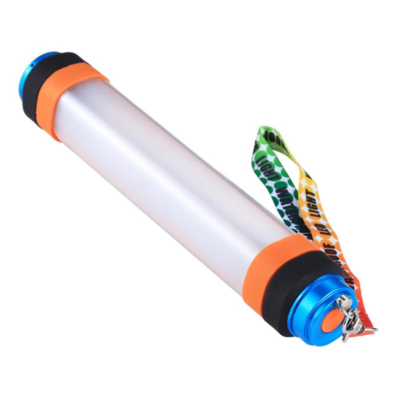 Campinglampa med anti-mygg funktion och nödhammare, 25.3x4x4cm