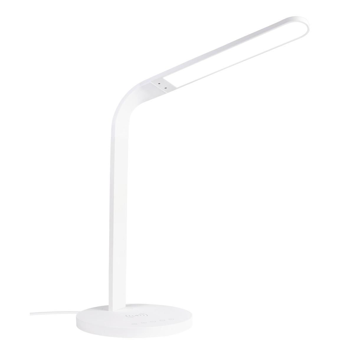 DELTACO Office LED bordslampa med trådlös laddare, 10W, 400lm