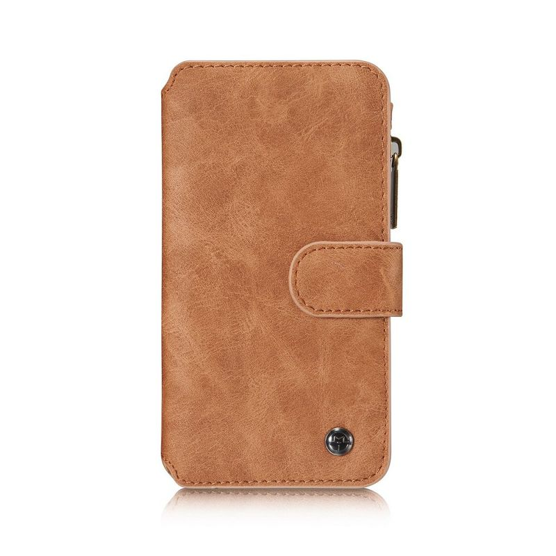 CaseMe läderfodral med magnetskal till Samsung Galaxy S7, brun