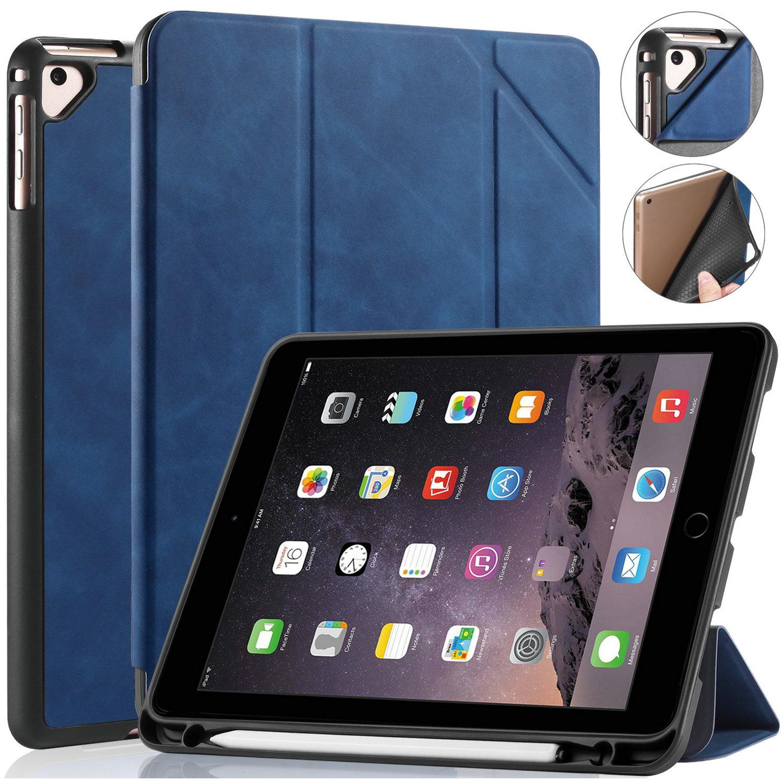 DG.MING Retro Style fodral till iPad Air/Air2 och iPad 9.7, blå