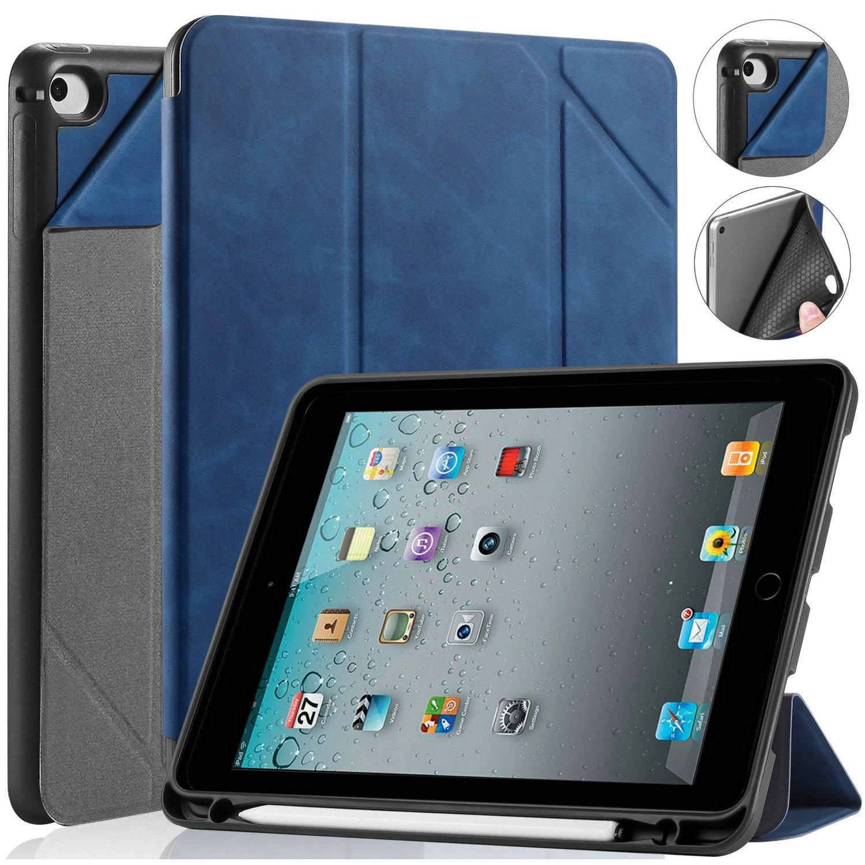 DG.MING Retro Style fodral till iPad Mini 4/5, blå