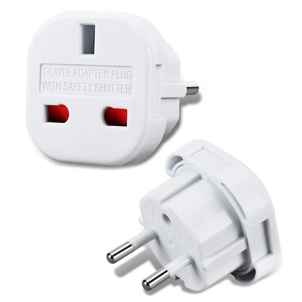 AC-adapter UK till EU, vit