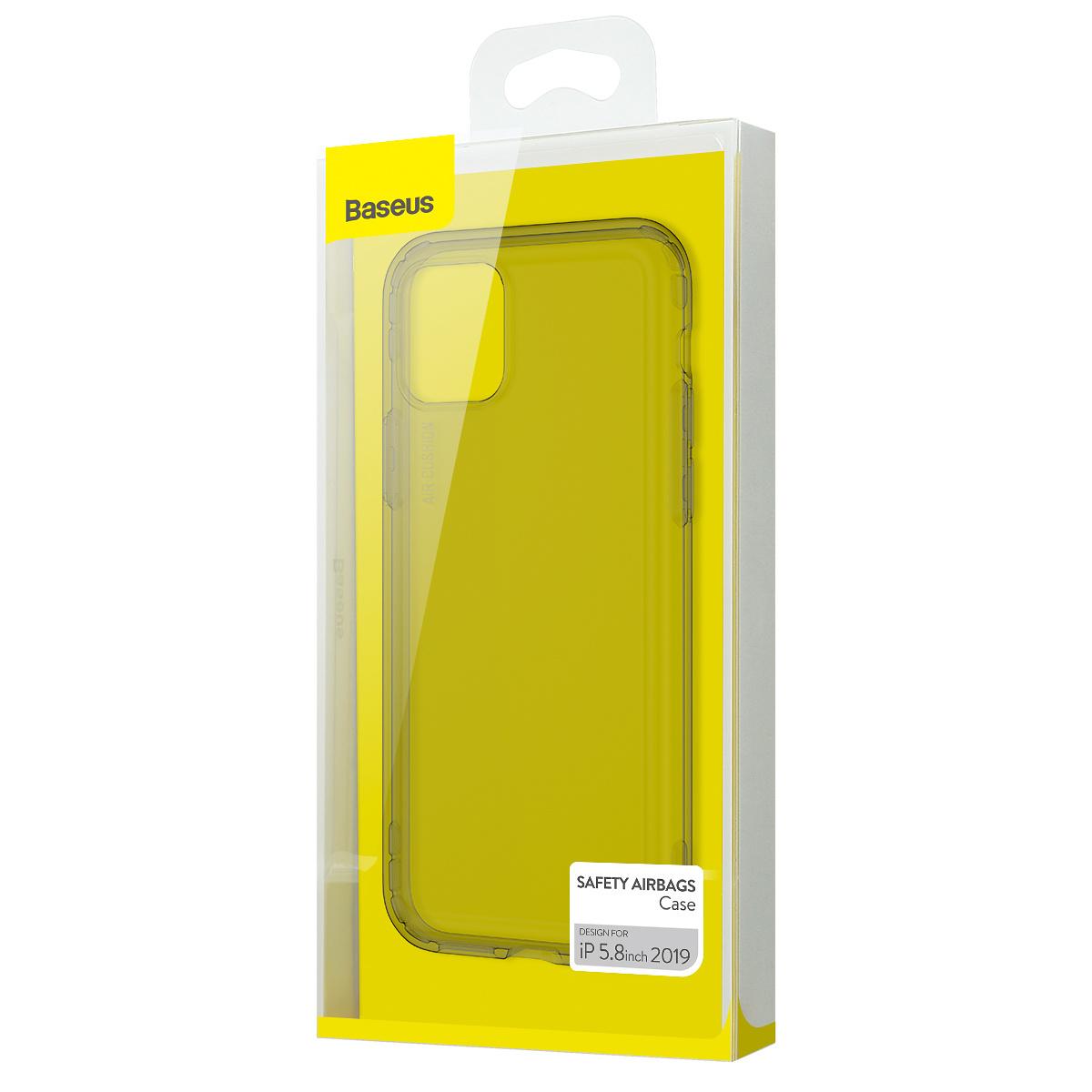 BASEUS stötsäkert TPU-skal, iPhone 11 Pro, svart/transparent