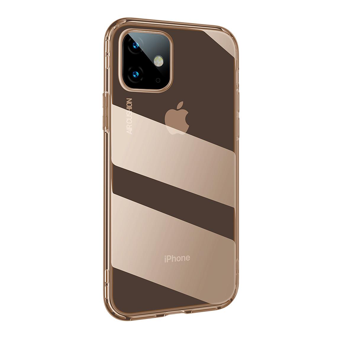 BASEUS stötsäkert TPU-skal, iPhone 11, guld/transparent