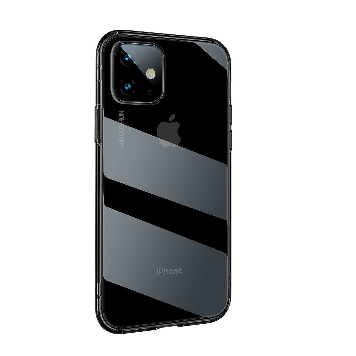 BASEUS stötsäkert TPU-skal, iPhone 11, svart/transparent