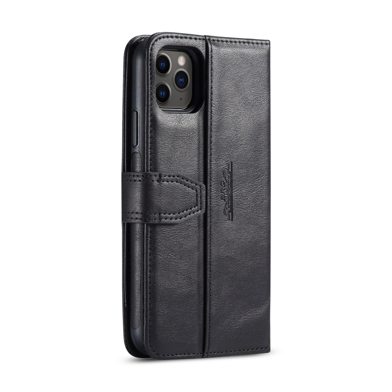 BRG Luxury läderfodral med ställ till iPhone 11 Pro Max, svart