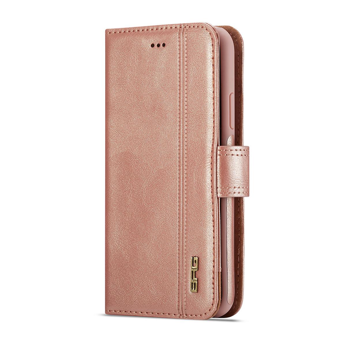 BRG Luxury plånboksfodral med ställ till iPhone XS Max, rosa