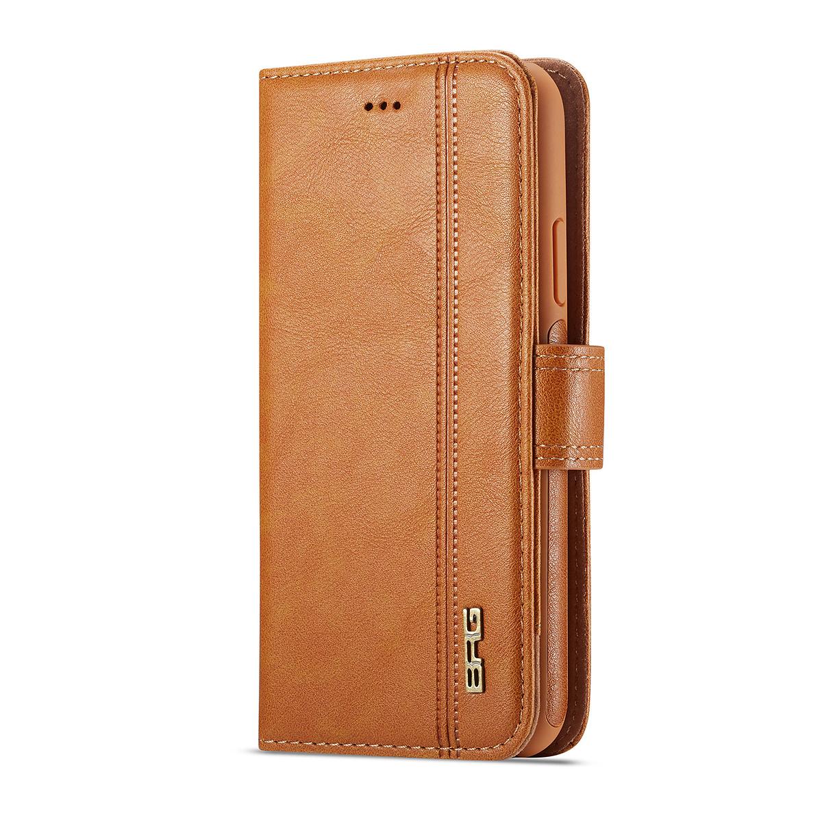 BRG Luxury plånboksfodral med ställ till iPhone X/XS, brun