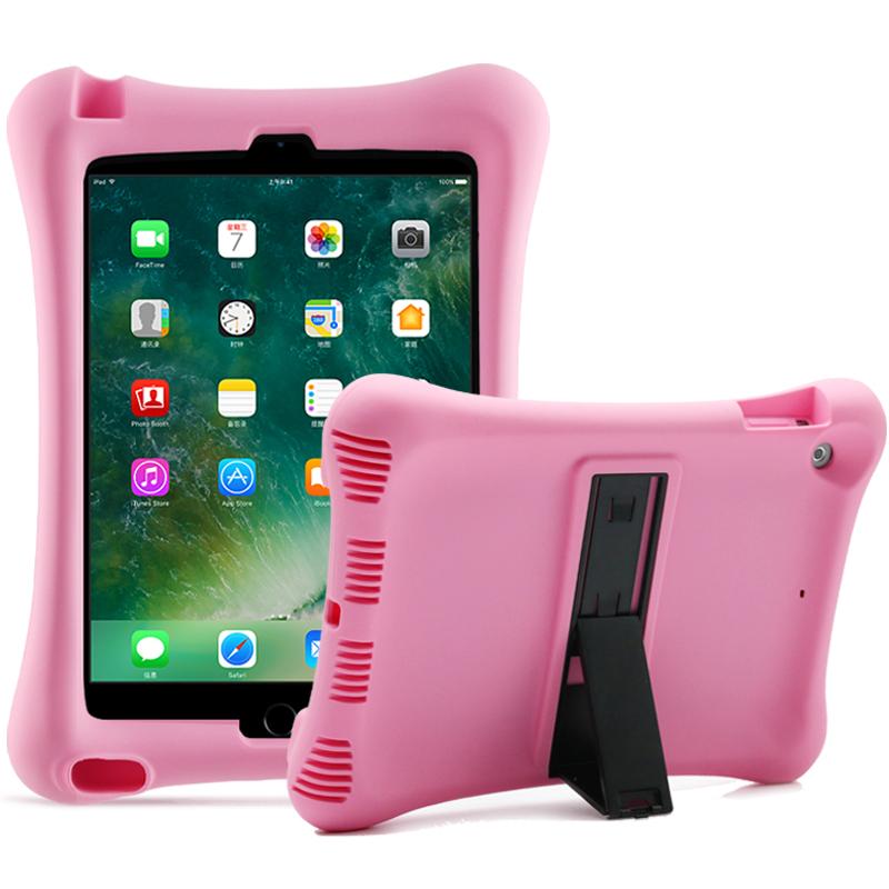 Barnfodral i silikon för iPad Air/iPad Air 2/iPad 9.7, rosa