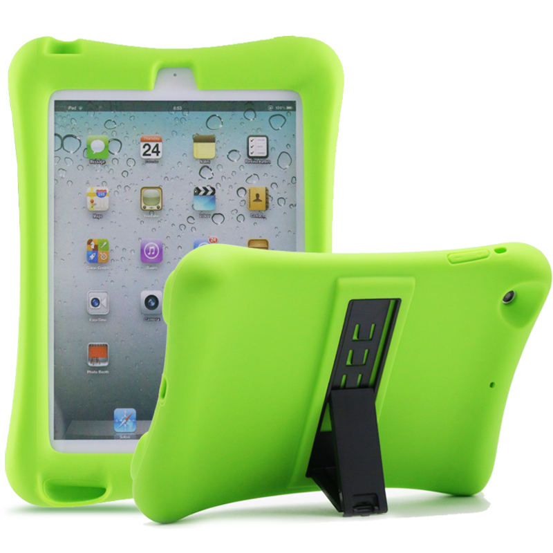 Barnfodral i silikon för iPad mini 1/2/3, grön