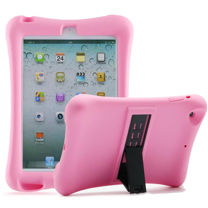 Barnfodral i silikon för iPad mini 1/2/3, rosa