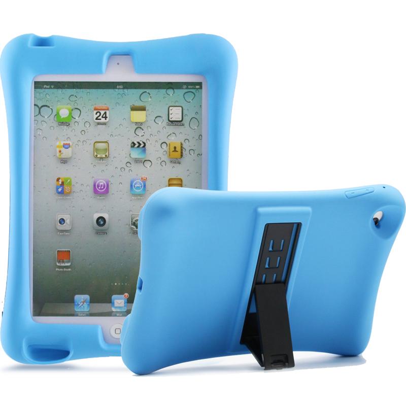 Barnfodral i silikon för iPad mini 1/2/3, blå