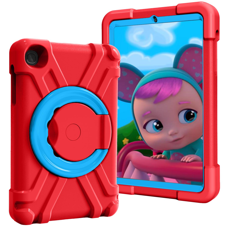 Barnfodral med roterbart ställ, Samsung Tab A 8.4 (2020), röd