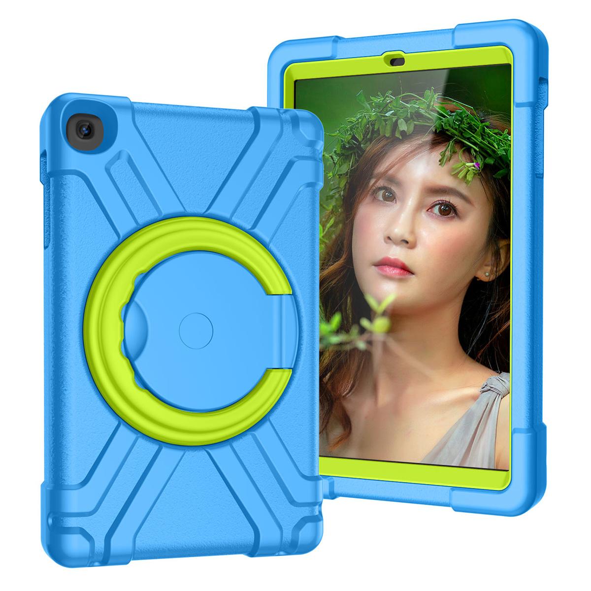 Barnfodral, Samsung Tab A 10.1 (2019), blå/grön