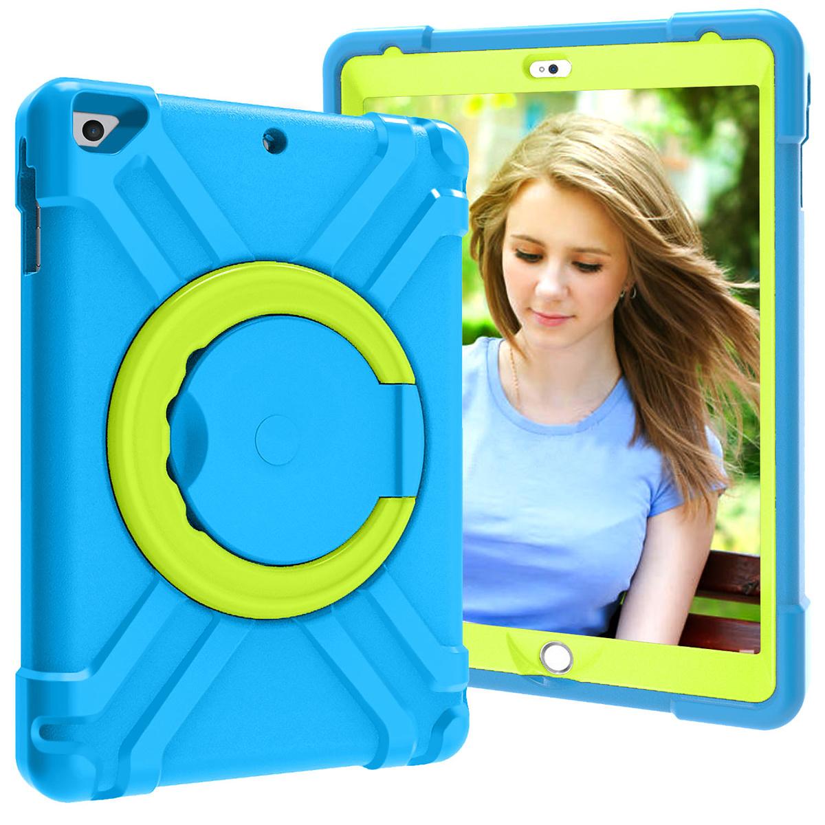 Barnfodral med ställ iPad 9.7, Air/Air2, Pro 9.7, blå/grön