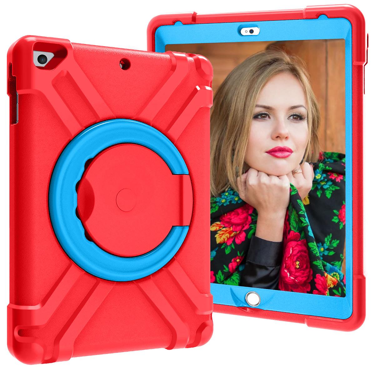 Barnfodral med ställ iPad 9.7, Air/Air2, Pro 9.7, röd/blå