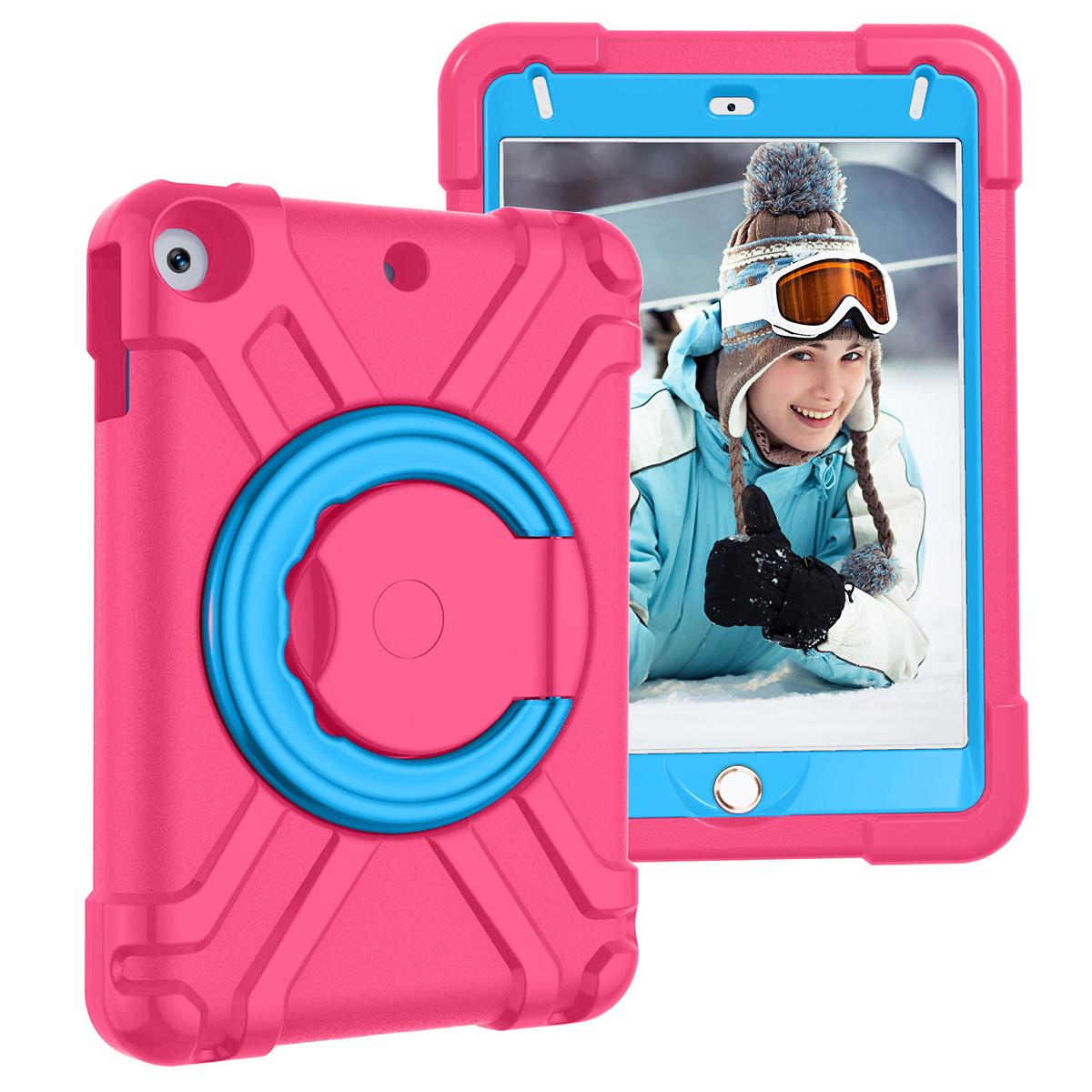 Barnfodral med roterbart ställ, iPad mini 4/5, rosa/blå