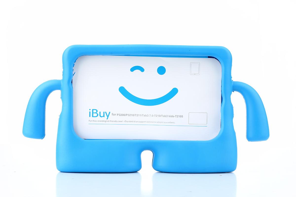 Barnfodral med ställ till Samsung Tab 3 7.0 / Tab A 7.0, blå