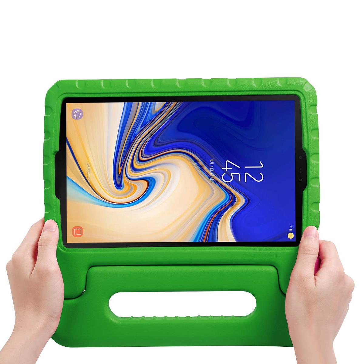 Barnfodral med ställ till Samsung Galaxy Tab S4, grön