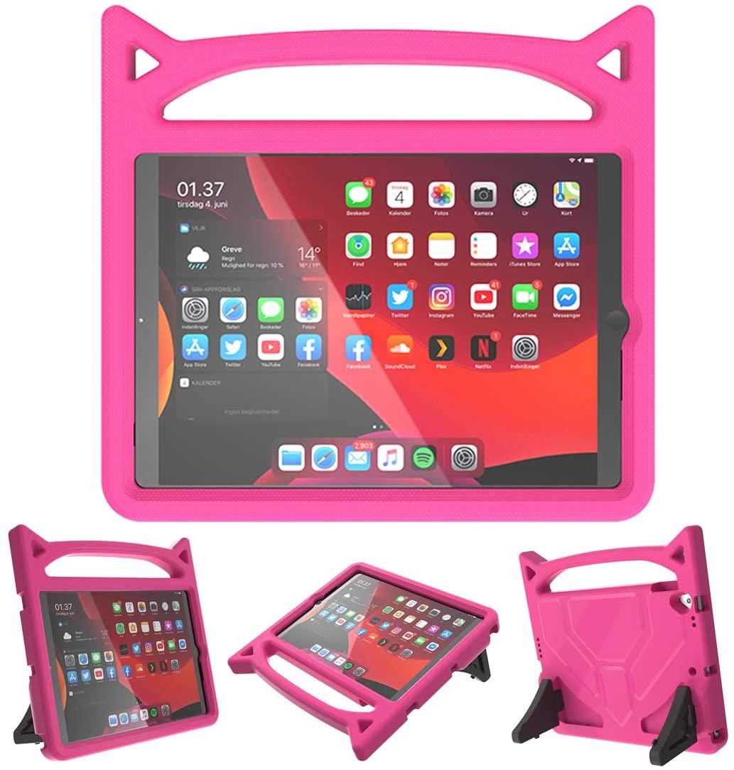 Barnfodral med ställ, iPad 10.2/10.5 (2019-2020), rosa
